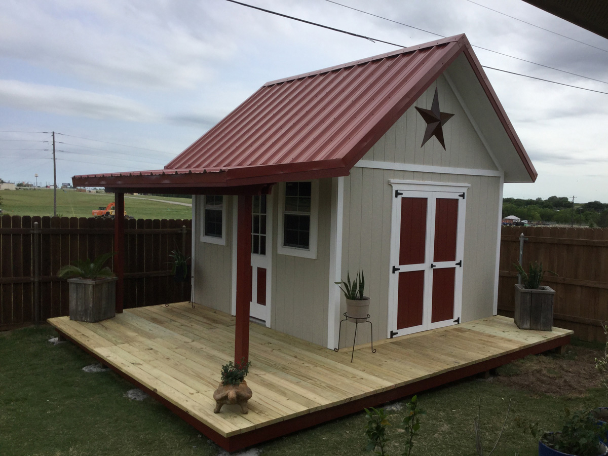 Bobby 39 s 12x12 shed with porch country life projects for Barn with porch