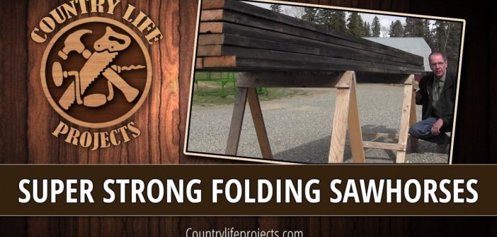 Super Strong Lightweight Folding Sawhorses