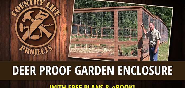 Deer & Bear Proof Garden Enclosure With Raised Beds – No Pounding Posts, Digging or Concrete!