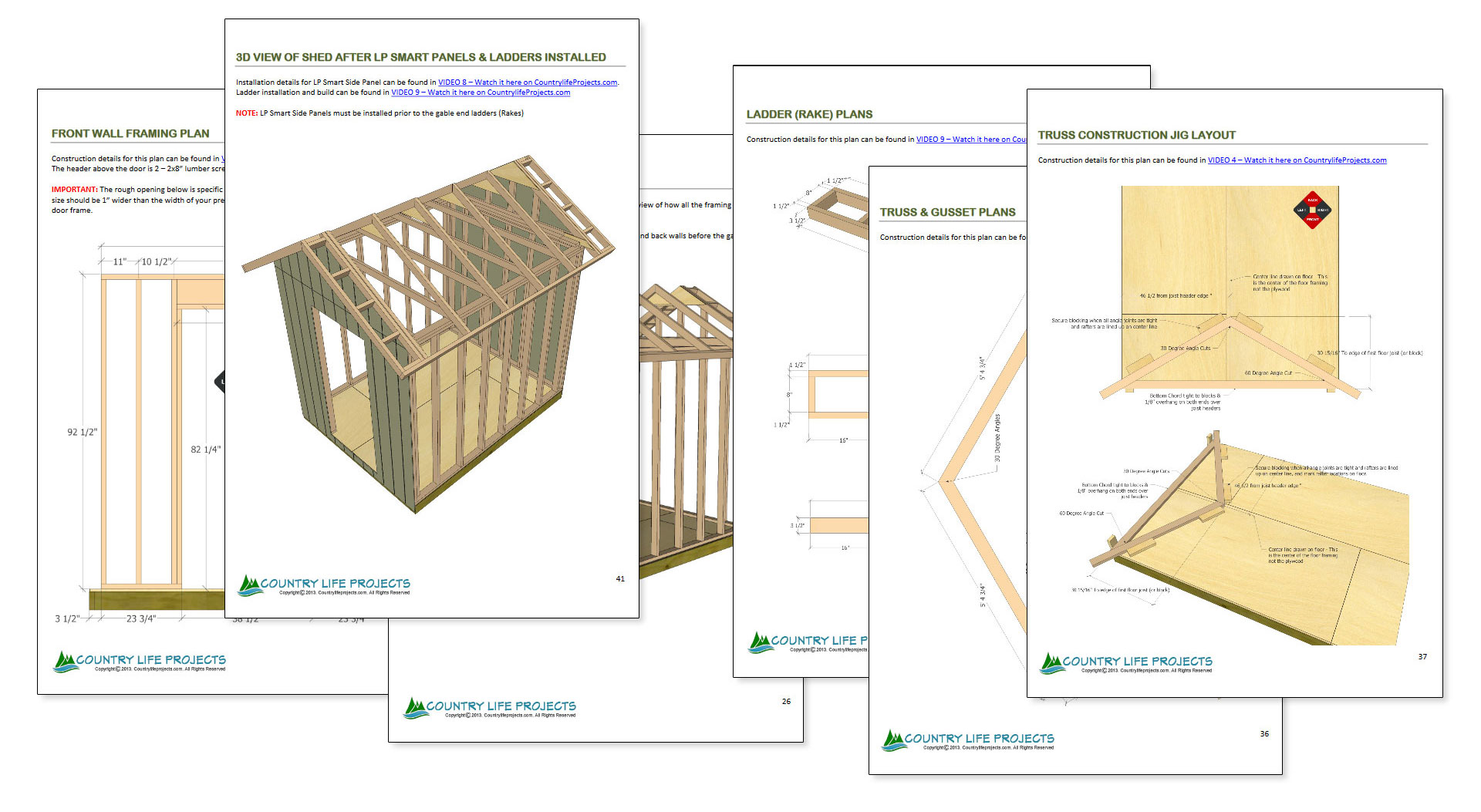 8 X 10 Shed Plans Country Life Projects